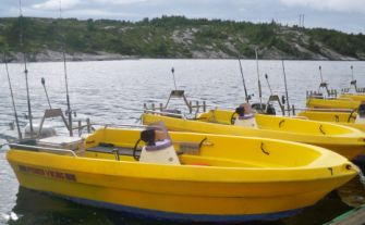 The Boats Are 15 Foot And Equipped With 17 25 Hp Motor A Fish Finder Pioner Viking Built For Rough Sea Good Design